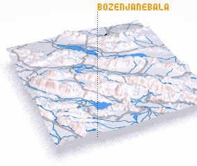 3d view of Bozenjān-e Bālā