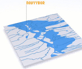 3d view of Novyy Bor