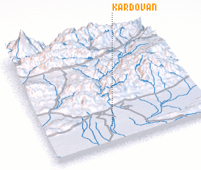 3d view of Kardovān