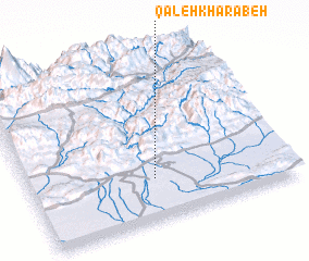 3d view of Qal'eh Kharābeh