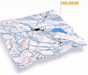 3d view of Zanjīrān