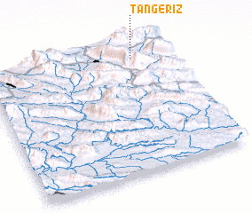 3d view of Tang-e Rīz