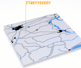 3d view of Staryye Keny