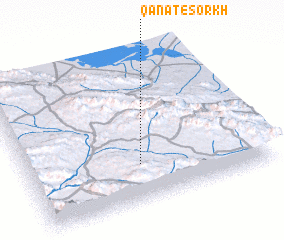 3d view of Qanāt-e Sorkh