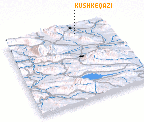 3d view of Kūshk-e Qāzī