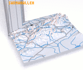 3d view of Sar Maḩalleh