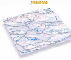 3d view of Pīr-e Morād
