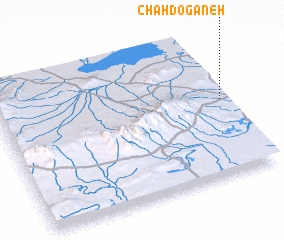 3d view of Chah Dogāneh