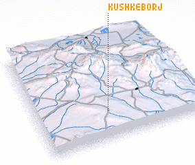 3d view of Kūshk-e Borj