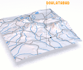 3d view of Dowlatābād