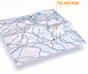 3d view of Talkh Chāh