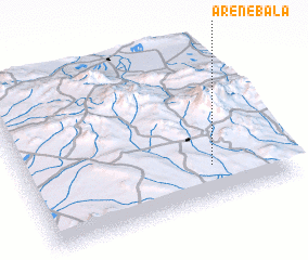 3d view of Āren-e Bālā