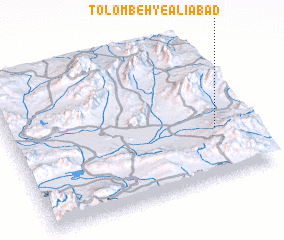 3d view of Tolombeh-ye 'Alīābād