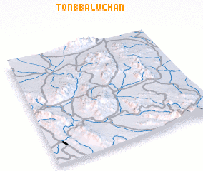 3d view of Tonb Balūchān