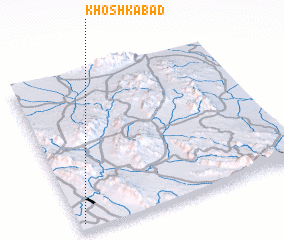 3d view of Khoshkābād