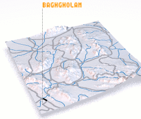 3d view of Bāgh Gholām