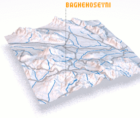 3d view of Bāgh-e Ḩoseynī