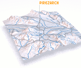3d view of Pīr-e Zārch