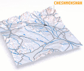 3d view of Cheshmeh Shāh