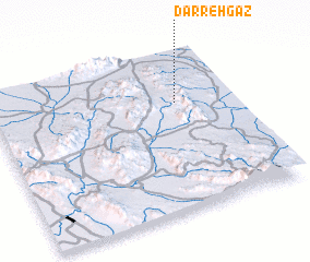 3d view of Darreh Gaz