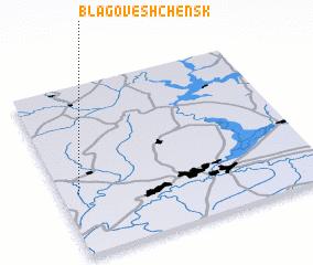 3d view of Blagoveshchensk