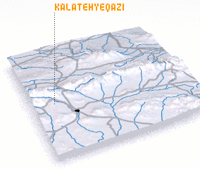 3d view of Kalāteh-ye Qāzī
