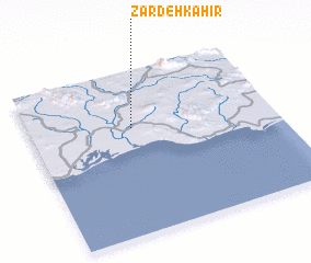 3d view of Zardeh Kahīr