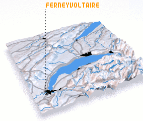 3d view of Ferney-Voltaire