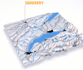 3d view of Sauverny