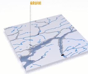 3d view of Årvik