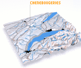 3d view of Chêne-Bougeries
