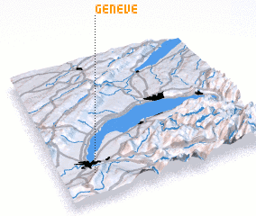 3d view of Genève