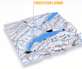 3d view of Chens-sur-Léman