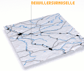 3d view of Neuviller-sur-Moselle