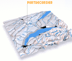 3d view of Port-de-Corsier