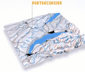 3d view of Port-de-Corsier