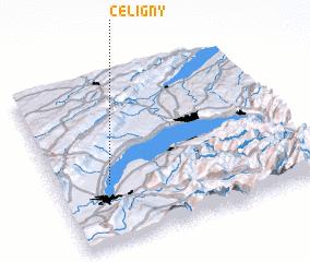 3d view of Céligny
