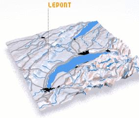 3d view of Le Pont