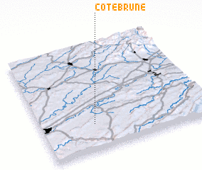 3d view of Côtebrune