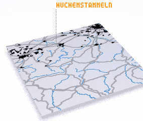 3d view of Huchem-Stammeln
