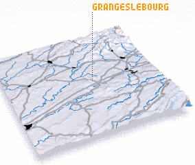 3d view of Granges-le-Bourg