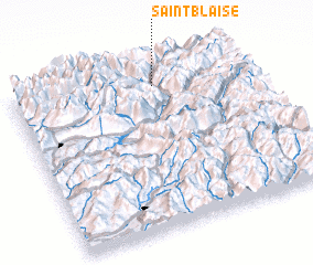 3d view of Saint-Blaise