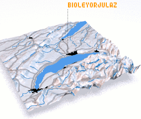 3d view of Bioley-Orjulaz