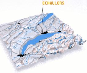 3d view of Echallens