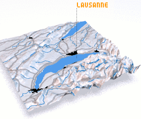 3d view of Lausanne