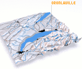3d view of Oron-la-ville