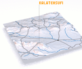 3d view of Kalāteh Şūfī