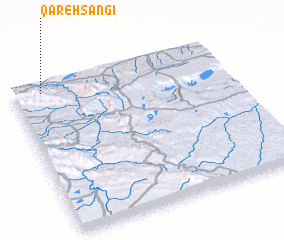 3d view of Qareh Sangī