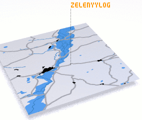 3d view of Zelënyy Log