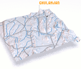 3d view of Ghulām Jān